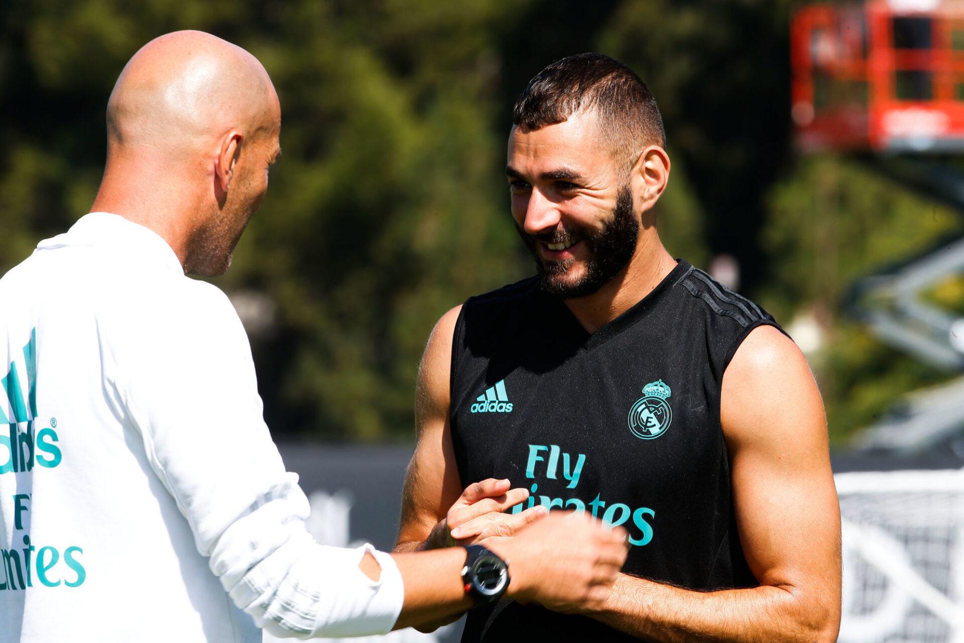 "Zinédine Zidane est ""ravi"" du retour de Karim Benzema. Icon Sport"