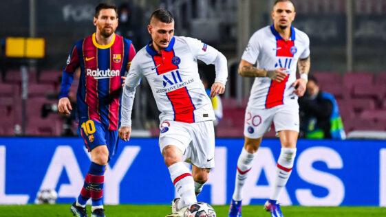 Marco Verratti a brillé de mille feux face au Barça. Photo Icon Sport