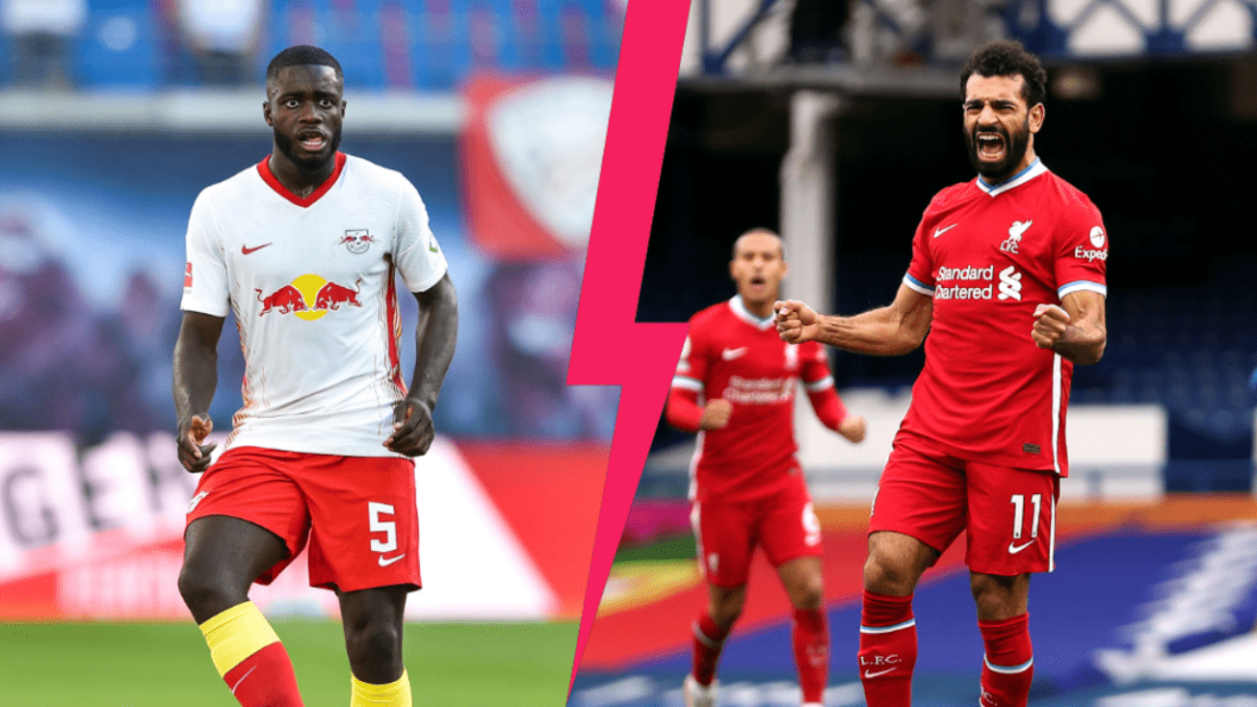 Le Leipzig de Dayot Upamecano contre le Liverpool de Mohamed Salah. Qui l'emportera en 8e de finale aller de la Ligue des champions, mardi 16 février ? Photos Icon Sport