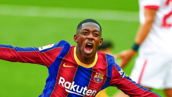 Le Barça dOusmane Dembélé a pris 31 points sur 33 possibles en Liga en 2021. Icon Sport