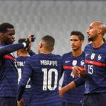 Paul Pogba, Kylian Mbappé, Raphaël Varane et Steven Nzonzi. Icon Sport