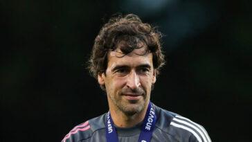 Raúl, l'entraîneur de l'équipe B du Real, pourrait prendre la suite de Zinédine Zidane. Icon Sport