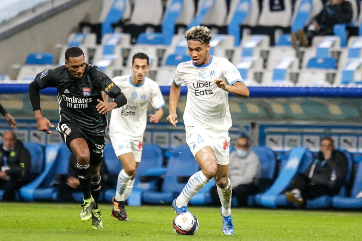 Boubacar Kamara a encore été monstrueux dans l'entrejeu de l'OM contre Lyon, dimanche 28 février. Photo Icon Sport