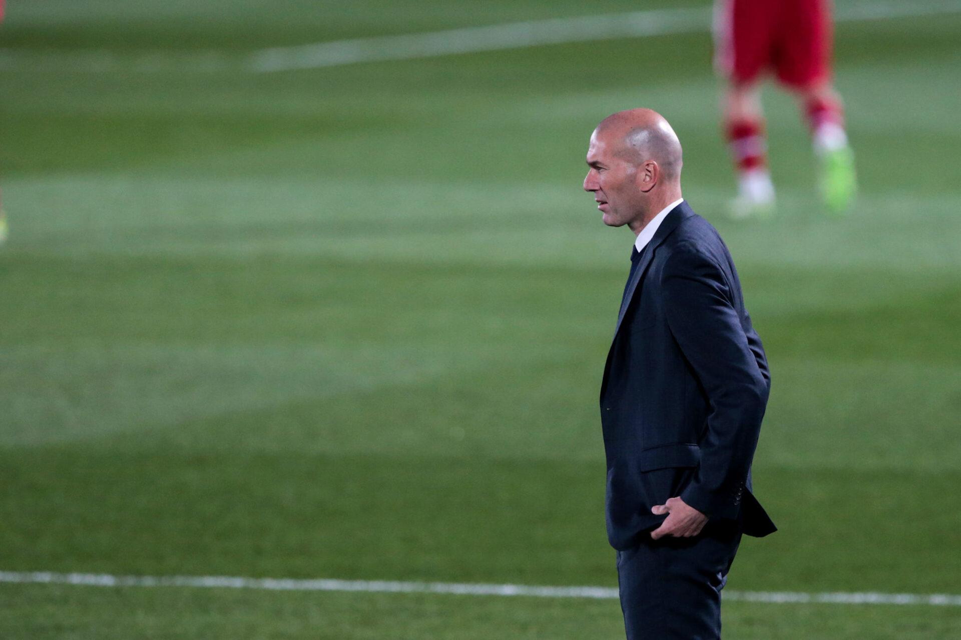 Zinédine Zidane espère encore finir champion d'Espagne. Photo IconSport.