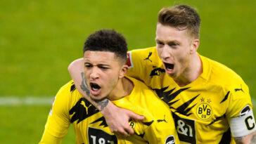 Jadon Sancho et Marco Reus, du Borussia Dortmund. Icon Sport