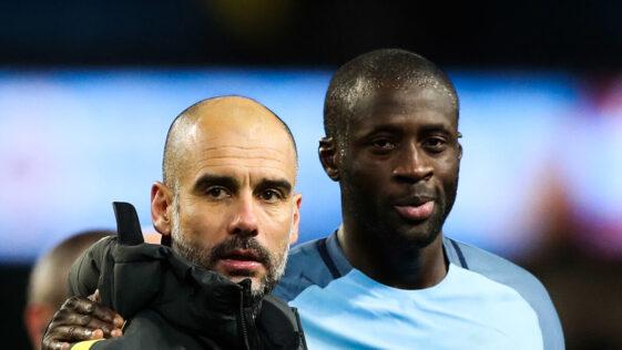 Pep Guardiola et Yaya Touré ne s'étaient pas quittés en bons termes à Manchester City. Icon Sport