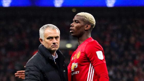 José Mourinho et Paul Pogba. Icon Sport