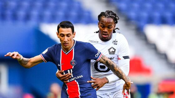 Ángel Di María, du PSG, et Renato Sanches, de Lille, pourraient participer à la Super League dès la saison prochaine. Icon Sport