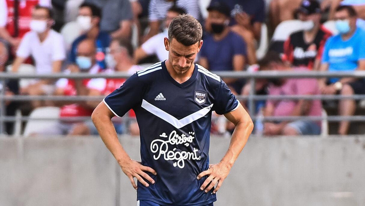 Laurent Koscielny désabusé par les performances de ses Girondins de Bordeaux. Icon Sport