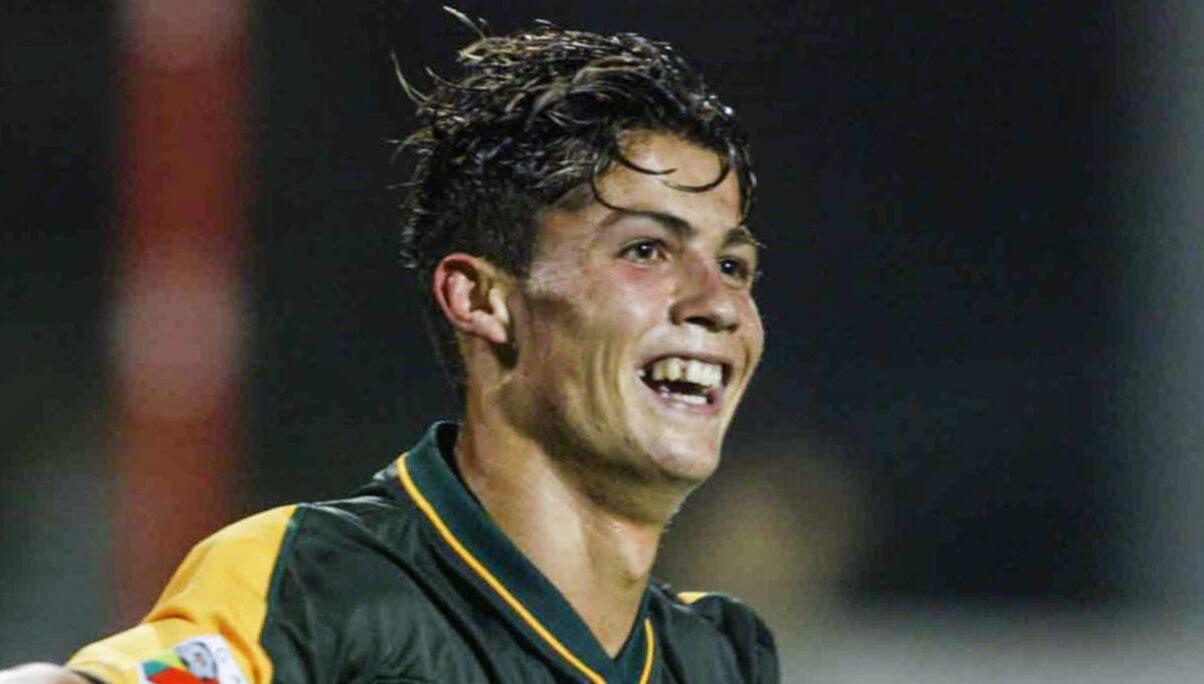Cristiano Ronaldo en 2002, à l'âge de 17 ans. Icon Sport