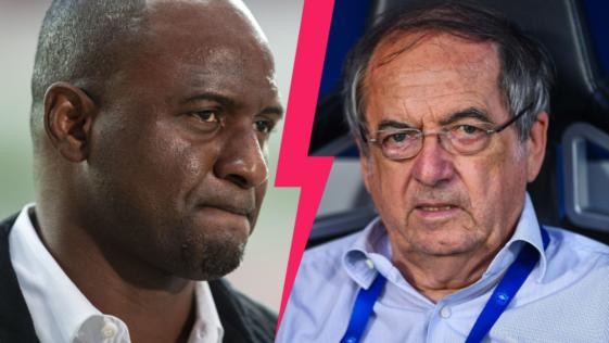 Patrick Vieira et Noël Le Graët ne sont pas sur la même longueur d'ondes sur la question du racisme. Icon Sport