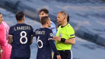 Marco Verratti et Ander Herrera ont accusé M. Kuipers d'avoir utilisé un langage insultant envers Verratti lui-même et Leandro Paredes. Icon Sport