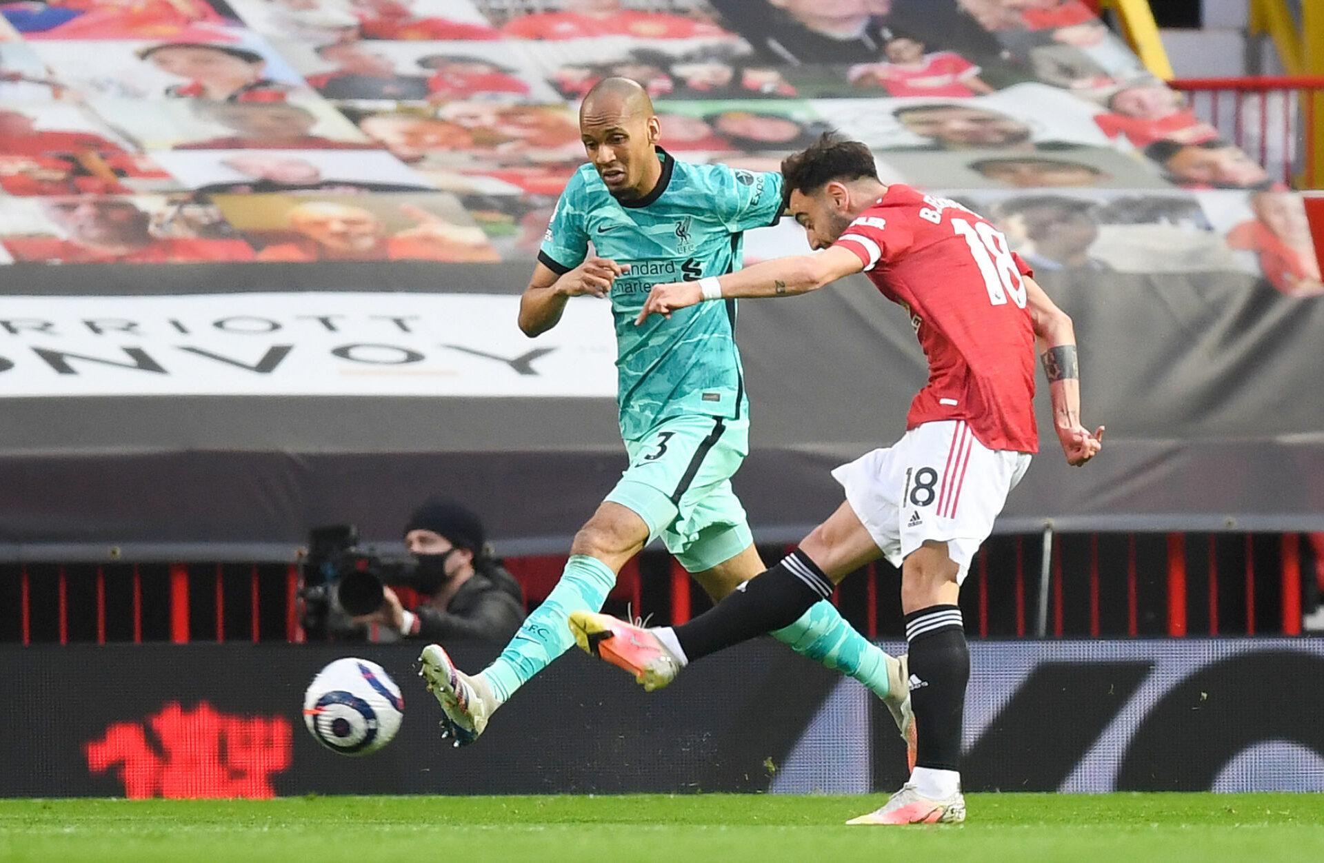 Bruno Fernandes ouvre le score pour Manchester United contre Liverpool