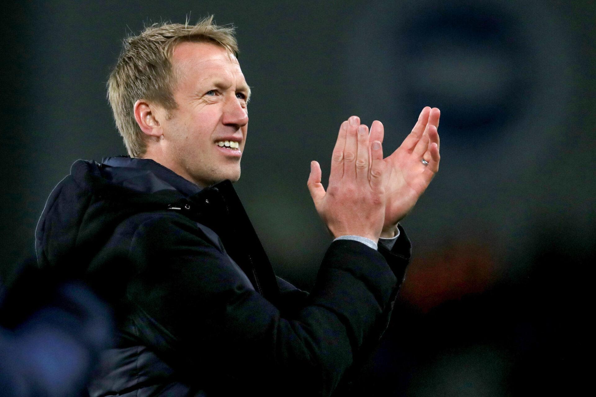 Graham Potter, l'entraîneur de Brighton, est l'une des options de Tottenham pour prendre les rênes de l'équipe la saison prochaine. Icon Sport