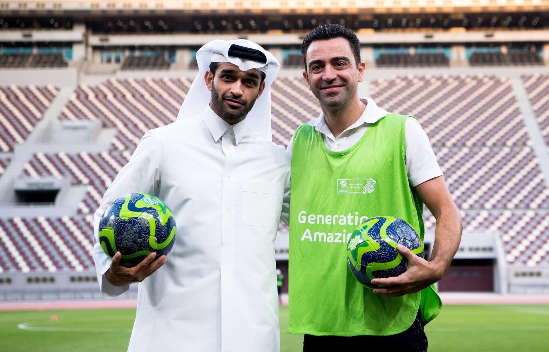 Xavi se sent bien au Qatar. Icon Sport