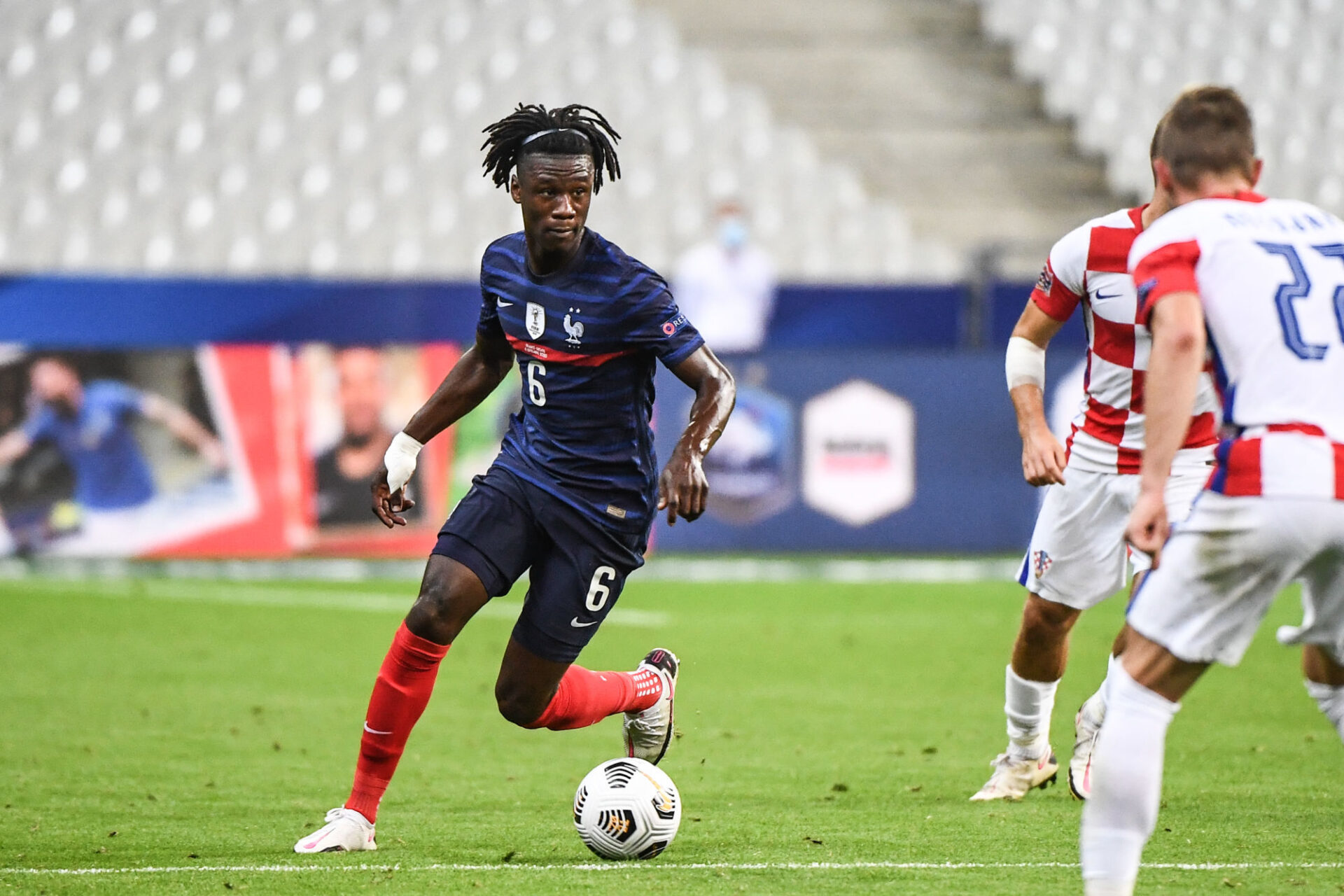 A 18 ans, Eduardo Camavinga compte déjà 3 sélections en équipe de France, dont un (incroyable) but face à l'Ukraine en octobre dernier. Icon Sport