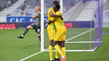 Le FC Nantes peut exulter : il est maintenu en Ligue 1 après avoir concédé une courte défaite (0-1) contre le Toulouse en barrage retour ce dimanche 30 mai. Icon Sport