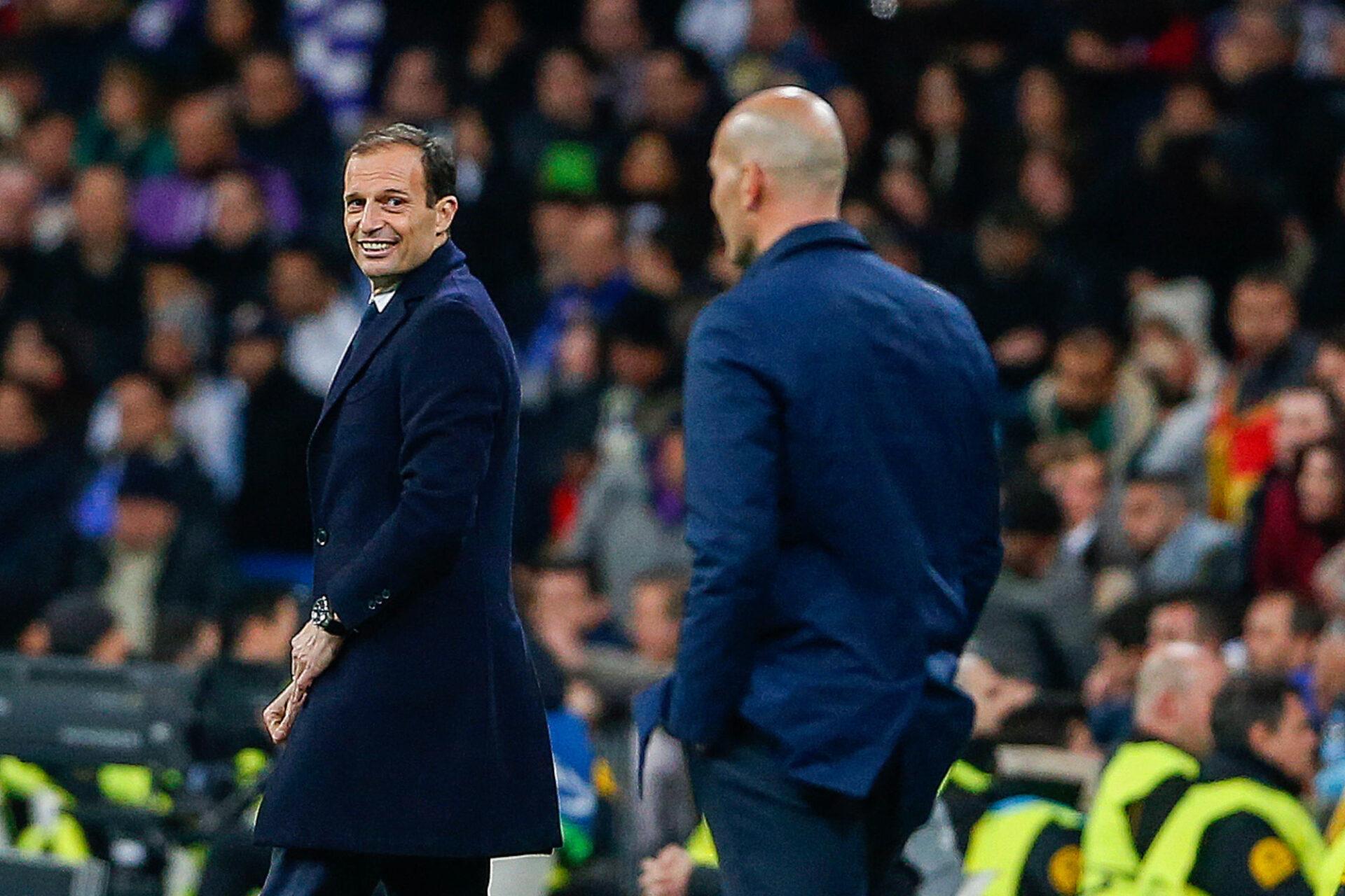 Massimiliano Allegri ou Zinédine Zidane ? Le combat promet d'être féroce pour le poste d'entraîneur de la Juventus. Icon Sport