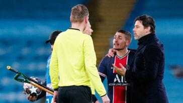 Marco Verratti aurait bien été insulté par Björn Kuipers lors de Manchester City-PSG, selon les extraits vidéo analysés par RMC Sport. Icon Sport