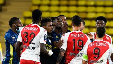 Une bagarre générale a éclaté au coup de sifflet final de Monaco-Lyon (2-3), dimanche 2 mai. Icon Sport