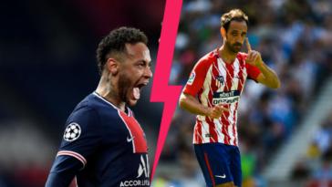 Neymar s'est fait tacler par Juanfran, l'ancien latéral de l'Atlético de Madrid. Icon Sport
