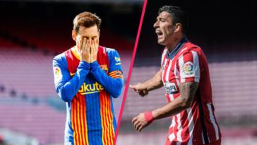 Le Barça de Lionel Messi et l'Atlético de Luis Suarez n'ont pas réussi à se départager (0-0 ce samedi 8 mai et laissent la possibilité au Real Madrid de reprendre la tête de la Liga dimanche 9 mai. Icon Sport