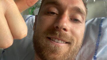 Sur son compte Instagram, Christian Eriksen a posté une photo de lui souriant et le pouce levé et a voulu rassuré sur son état de santé - Icon Sport