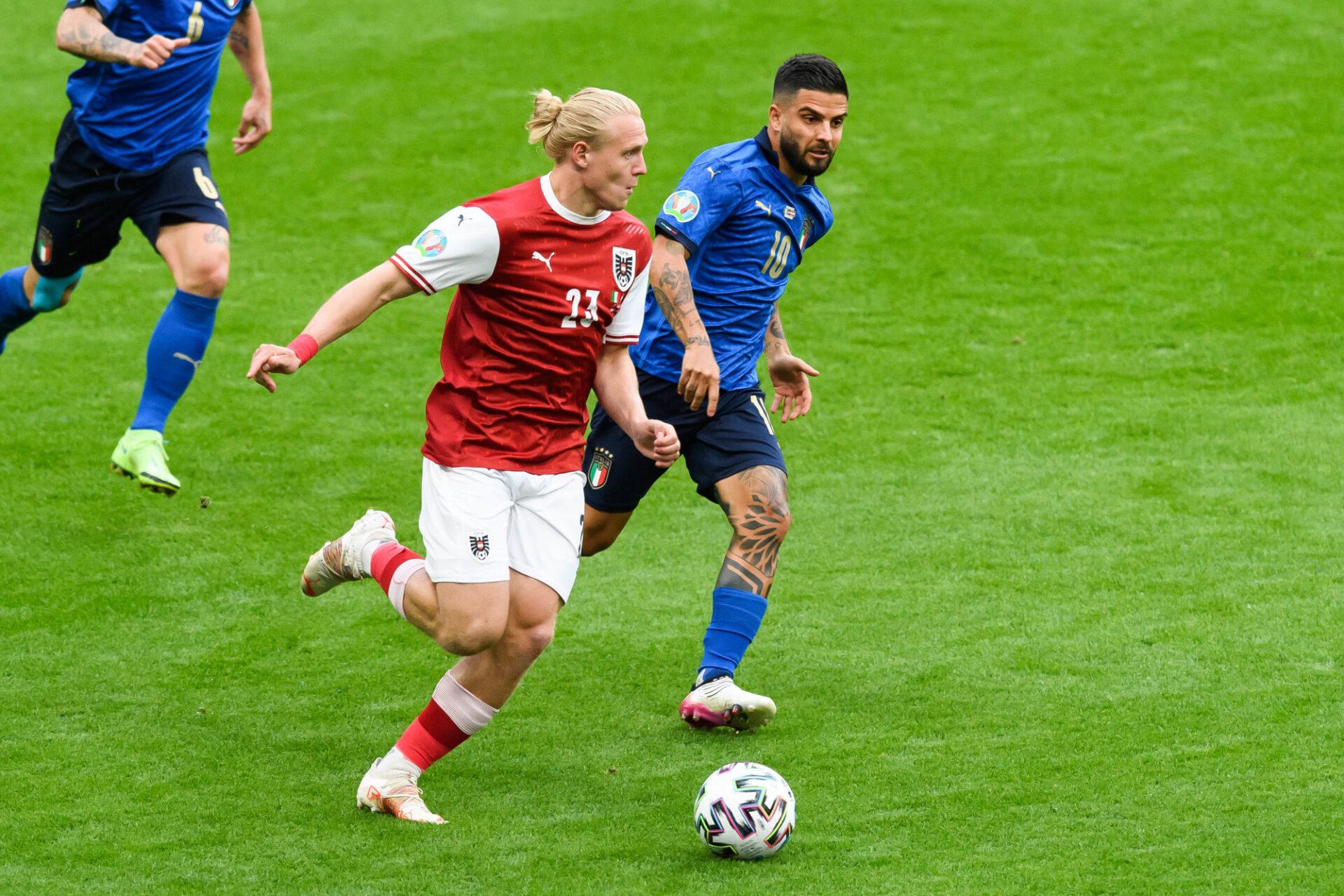 Xaver Schlager a été monstrueux au point de prendre le dessus sur le milieu italien. Icon Sport