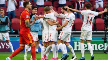 Le Danemark a éliminé le pays de Galles, avec la manière (0-4), en huitième de finale de l'Euro 2020, ce samedi 26 juin (iconsport)