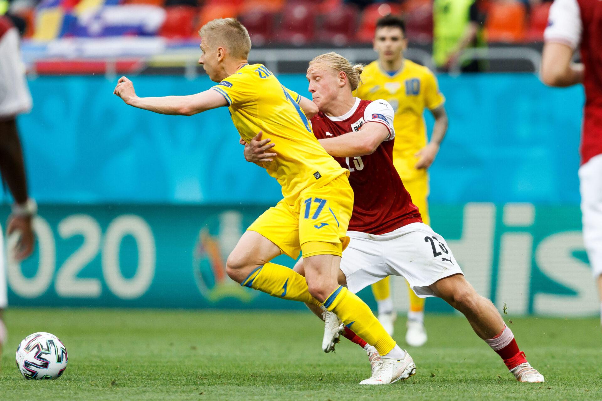Zinchenko n'est pas parvenu à peser sur le jeu ukrainien face à l'Autriche. Icon Sport
