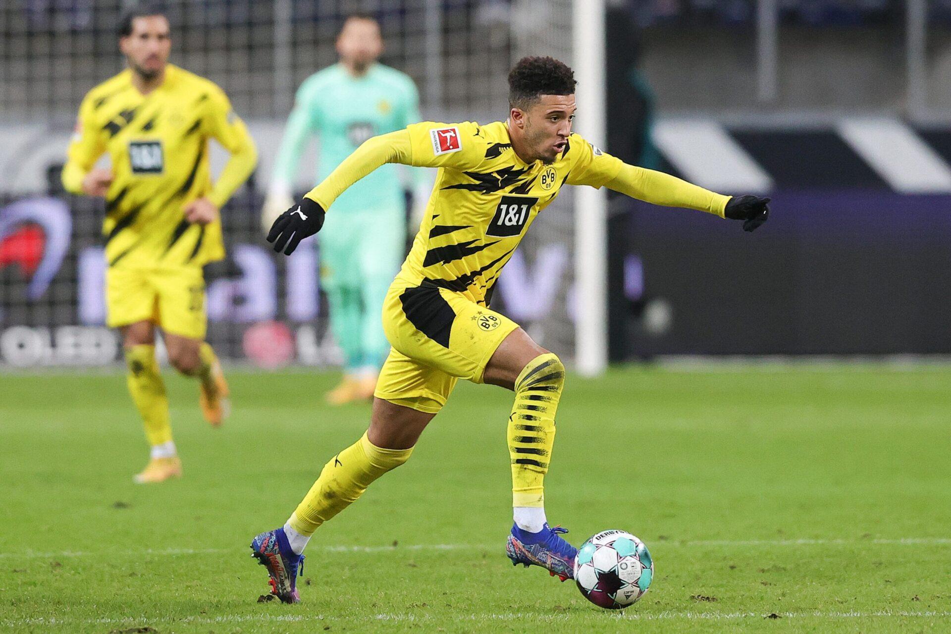 Jadon Sancho en action face à l'Eintracht Frankfurt (iconsport)