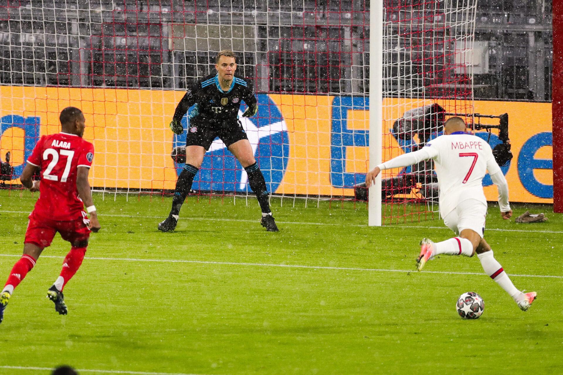 En avril, Kylian Mbappé avait trompé Manuel Neuer à deux reprises en quart de finale de la Ligue des champions (iconsport)