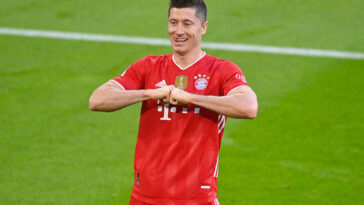 Robert Lewandowski vient d'être désigné meilleur joueur de la saison par le syndicat des joueurs de Bundesliga (iconsport)