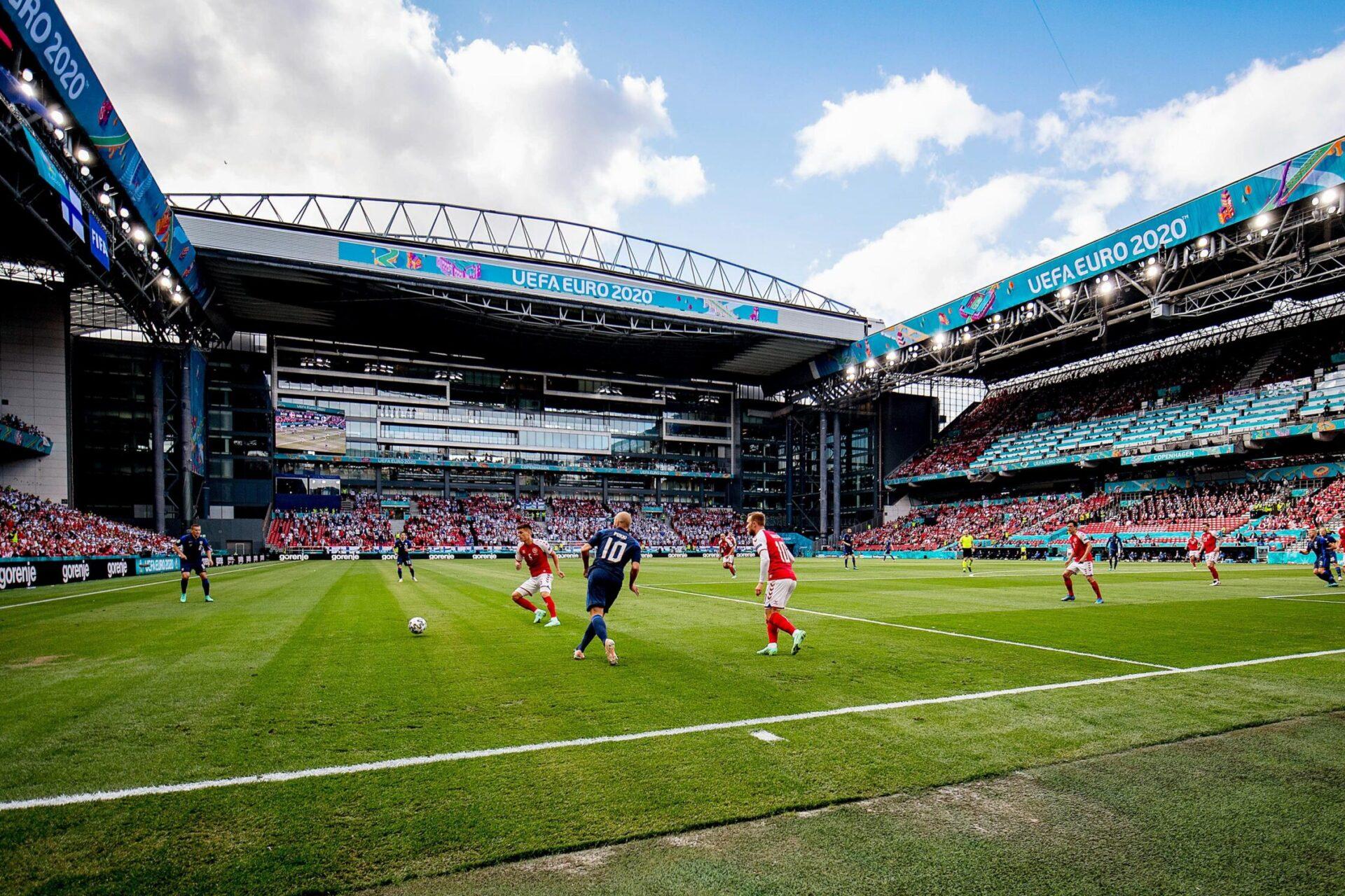 Eriksen, lors du match entre le Danemark et la Finlande le samedi 12 juin. Icon Sport