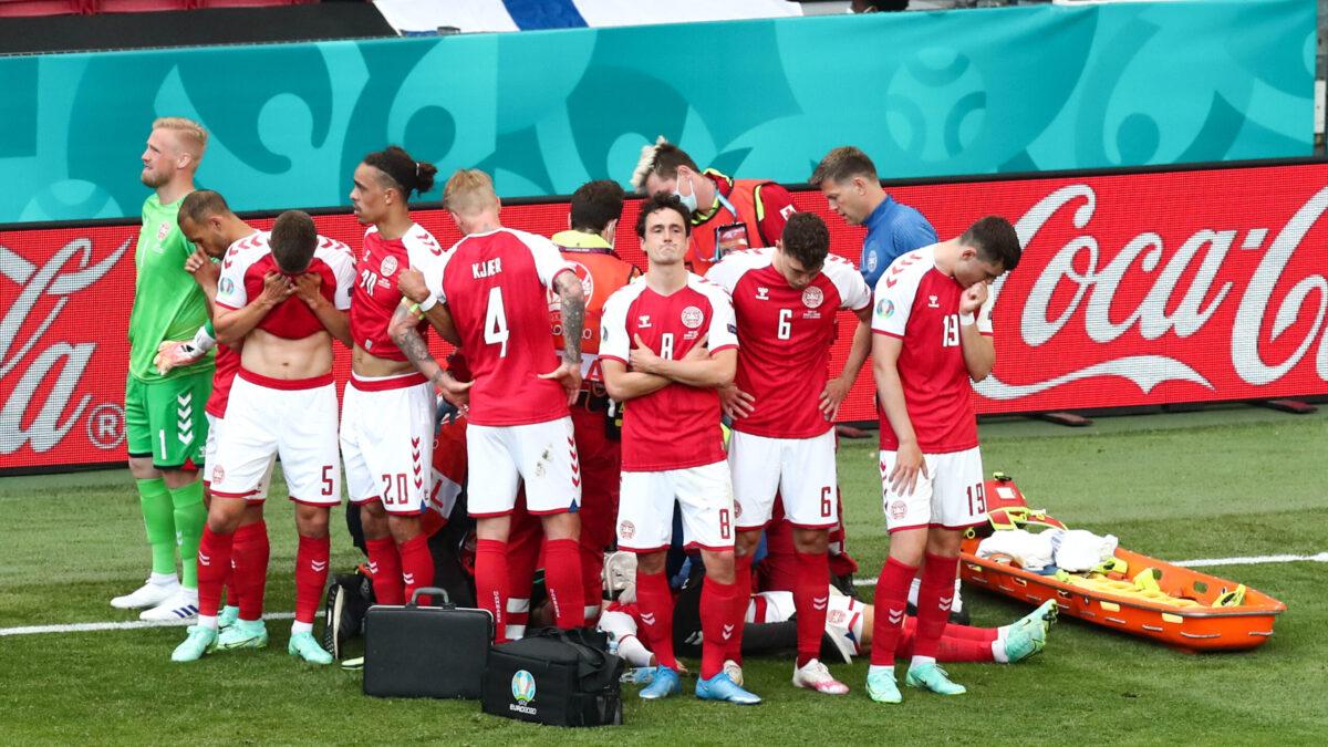 Christian Eriksen a été victime d'un malaise lors de la rencontre entre le Danemark et la Finlande (iconsport)