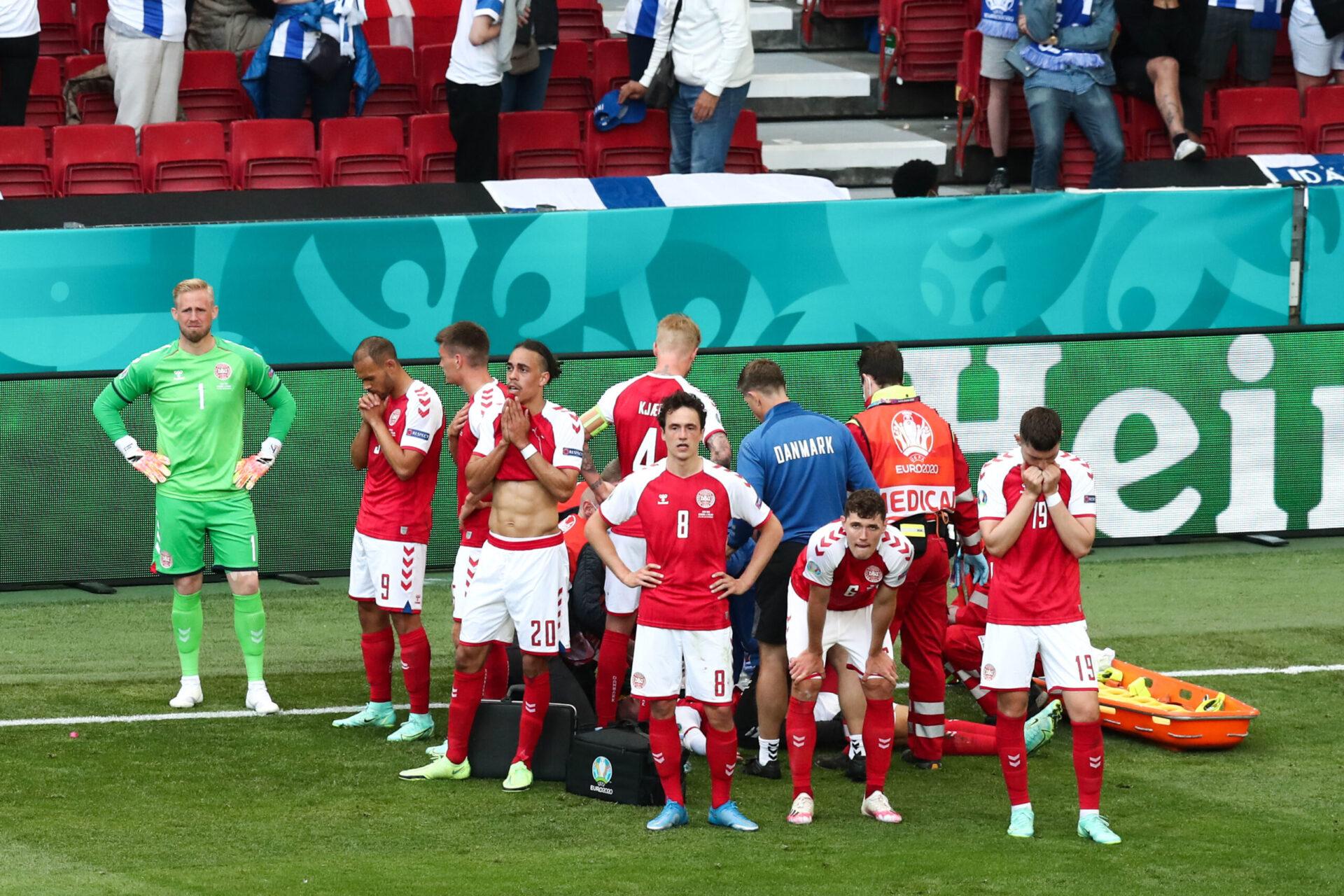 Après avoir été ranimé, Eriksen avait rassuré le médecin de l'UEFA en répondant à toutes les questions qui ont été posées - Icon Sport