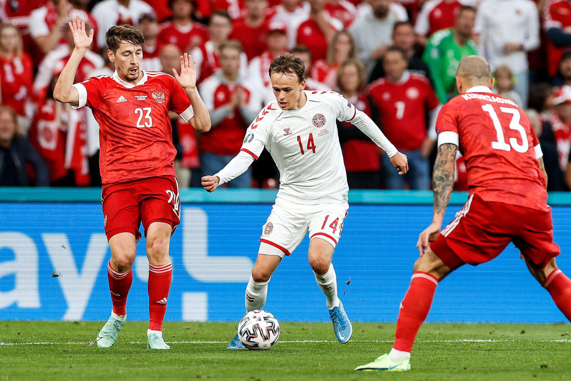 Mikkel Damsgaard a ouvert le score pour le Danemark (iconsport)
