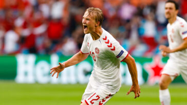 Kasper Dolberg renaît après son doublé face au pays de Galles. Icon Sport