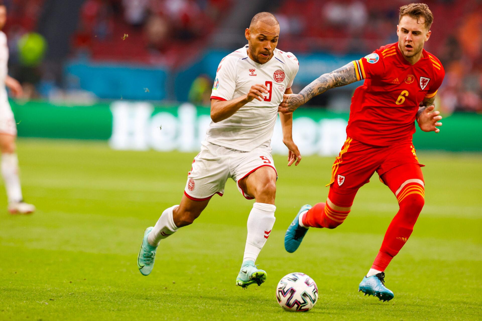 Braithwaite a inscrit le quatrième but danois dans le temps additionnel (iconsport)