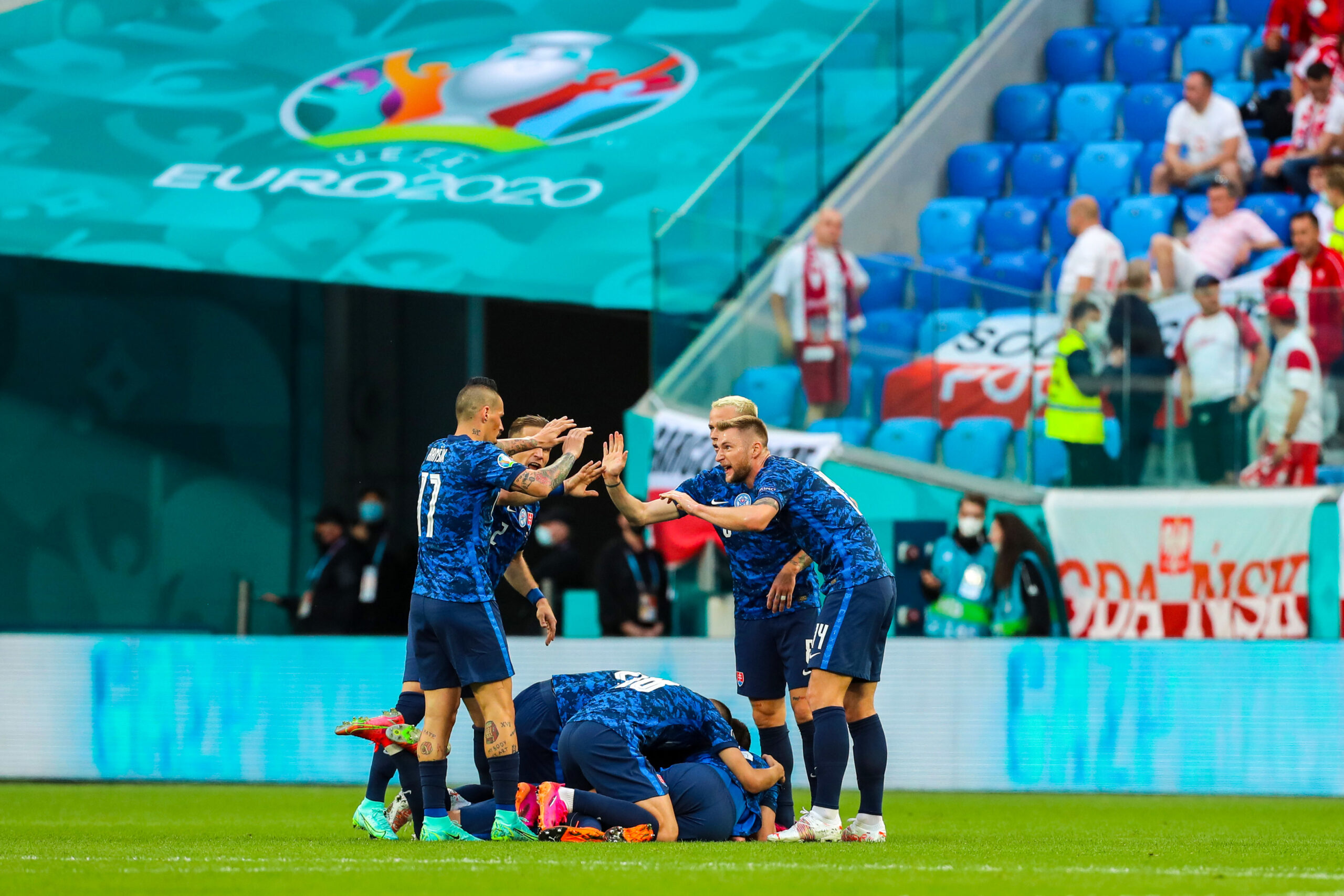 La Slovaquie a battu la Pologne lors de la 1ère journée du Groupe E. Icon Sport