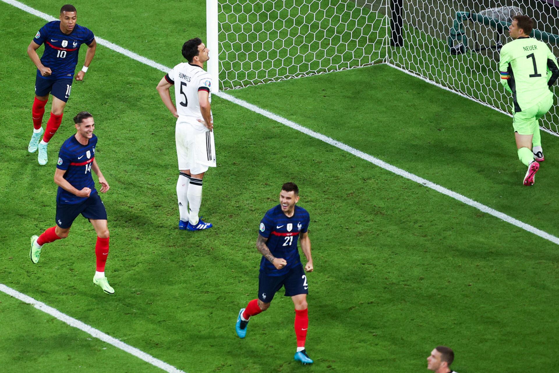 Lucas Hernandez jubile sur l'ouverture du score qu'il a provoquée. Icon Sport