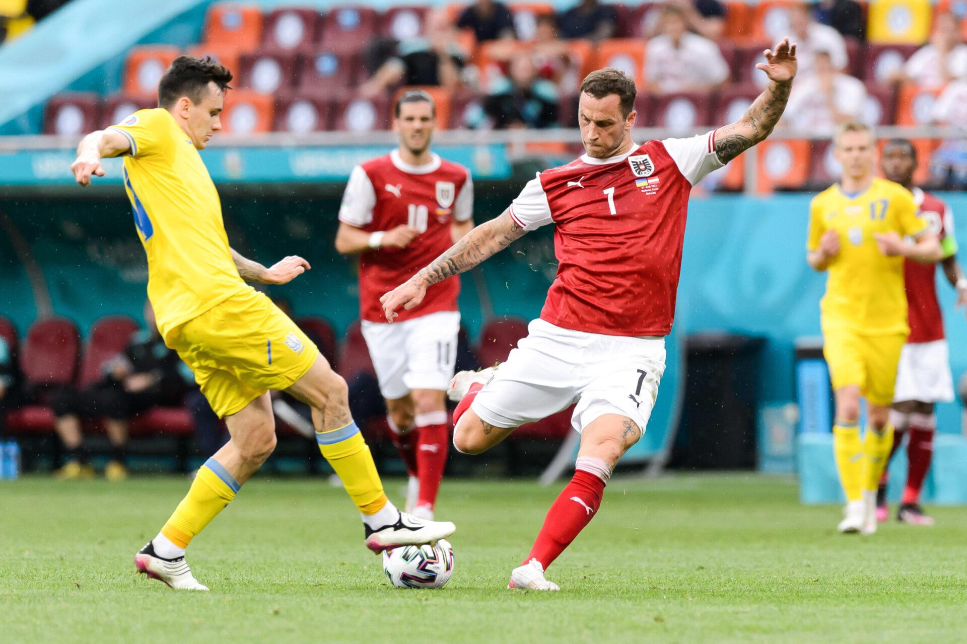 Marko Arnautovic était titulaire avec l'Autriche face à l'Ukraine. Icon Sport