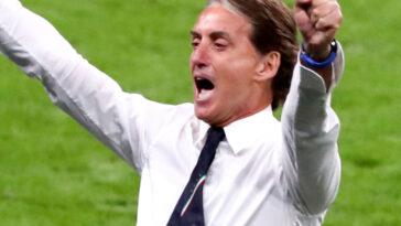 Roberto Mancini pouvait savourer après la victoire de l'Italie contre l'Autriche (2-1 a.p) en huitièmes de l'Euro 2020. Icon Sport