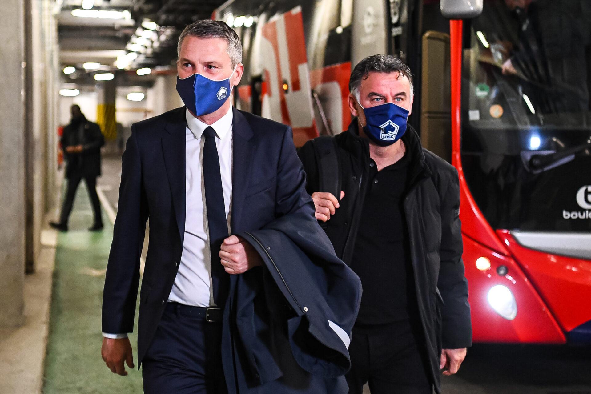 Nice va devoir trouver un accord financier pour persuader Olivier Létang de laisser partir le coach qui a conduit Lille au titre. Il espèrerait 10 millions d'euros - Icon Sport