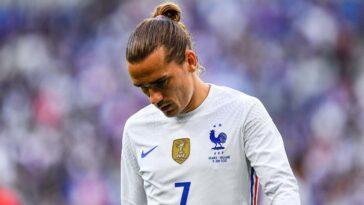 Victime d'une contusion au mollet, Antoine Griezmann a manqué l'entraînement des Bleus ce jeudi (iconsport)