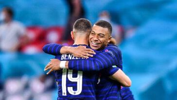 L'équipe de France de Karim Benzema et Kylian Mbappé a réussi ses débuts à l'Euro 2020 en dominant l'Allemagne (1-0) ce mardi 15 juin. Icon Sport