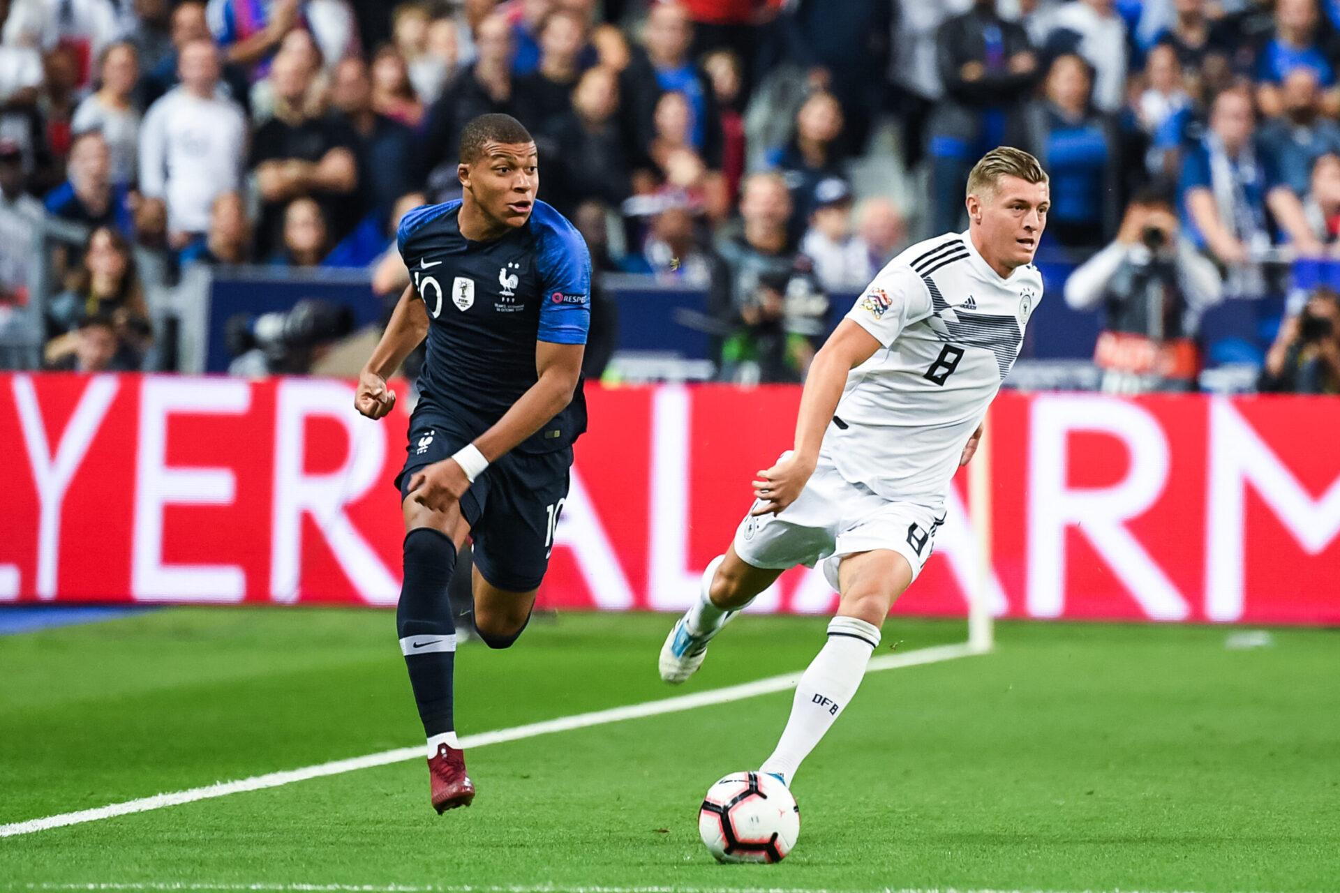 Toni Kroos espère que l'Allemagne ne laissera pas trop d'espaces en contres à Kylian Mbappé (iconsport)