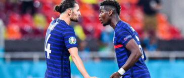 Les tensions entre Adrien Rabiot et Paul Pogba lors de France-Suisse, symbole d'une ambiance qui s'est dégradée en équipe de France depuis le début de l'Euro. Icon SPort