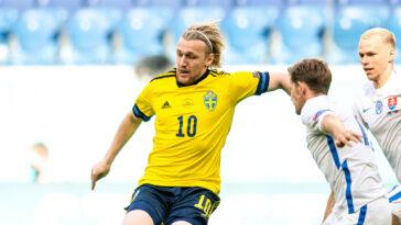 Emil Forsberg a inscrit le seul but du match, sur penalty, pour la Suède. Icon Sport