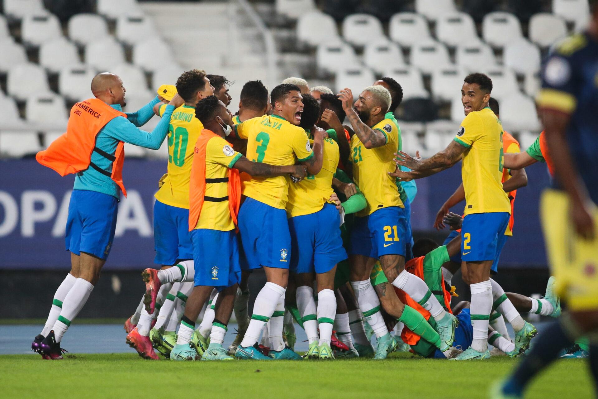 Malgré un premier but encaissé dans la compétition, le Brésil a réagi et poursuit son sans-faute (iconsport)